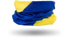 Chusta komin Kross Tube żółto-niebieska