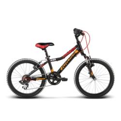 """Rower Kross LEVEL MINI 20"""" 2018 czarny-czerwony-pomarańczowy połysk"""