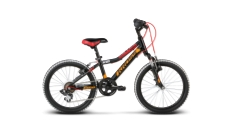 """** Rower Kross LEVEL MINI 20"""" 2018 czarny-czerwony-pomarańczowy połysk"""