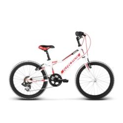 """* Rower Kross HEXAGON MINI 20"""" 2018 biały-czerwony-czarny połysk"""