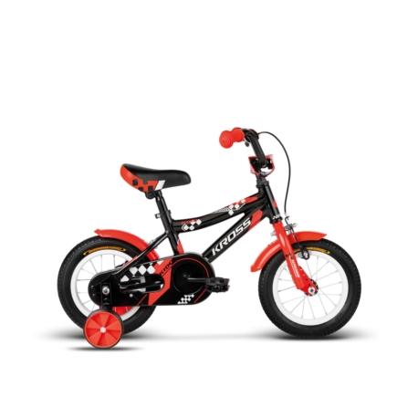 """Rower dziecięcy 12"""" Kross Kido 2018 czarny-czerwony-biały połysk"""