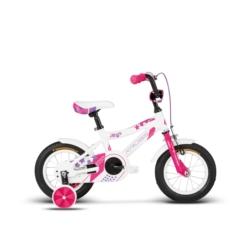 """Rower 12"""" Kross MAYA 2018 biały-różowy-fioletowy połysk"""