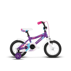 """Rower 12"""" Kross MAYA 2018 fioletowy-błękitny-różowy połysk"""