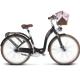 Rower miejski Le Grand Lille 7 rozmiar L 2018 czarny mat
