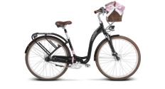 Rower miejski Le Grand Lille 7 rozmiar L czarny mat