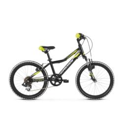 Rower Kross Level Mini 2.0 2019 czarny-limonkowy-srebrny połysk