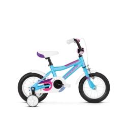 """Rower 12"""" Kross Mini 2.0 2019 niebieski-różowy-fioletowy połysk"""