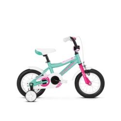 """Rower 12"""" Kross Mini 2.0 2019 turkusowy-różowy połysk"""