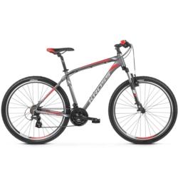 * Rower górski MTB 26 Kross Hexagon 2.0 rozmiar XS 2019 grafitowy-srebrny-czerwony mat