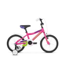 """Rower 16"""" Kross Mini 4.0 2019 różowy-zielony połysk"""