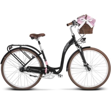 Rower miejski Le Grand Lille 7 rozmiar M czarny mat
