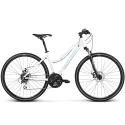 Rower crossowy Kross EVADO 4.0 rozmiar DL damka biały-stalowy połysk