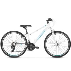 Rower crossowy Kross EVADO JR 1.0 2019 biały-turkusowy-niebieski połysk