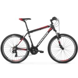 Rower górski MTB 26 Kross Hexagon 1.0 rozmiar XS 2019 czarny-biały-czerwony mat
