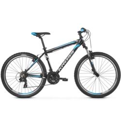 Rower górski MTB 26 Kross Hexagon 1.0 rozmiar M 2019 czarny-biały-niebieski połysk