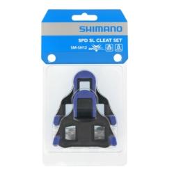 Bloki pedałów Shimano SMSH12 SPD-SL szosa dwustopniowe niebieskie