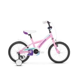 """Rower 16"""" Kross Mini 3.0 2019 różowy-fioletowy-turkusowy połysk"""