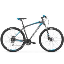 Rower górski MTB 29 Kross Hexagon 5.0 rozmiar S 2020 grafitowy-srebrny-niebieski mat
