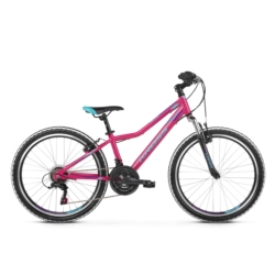 * Rower Kross LEA JR 1.0 2020 różowy-niebieski-fioletowy połysk