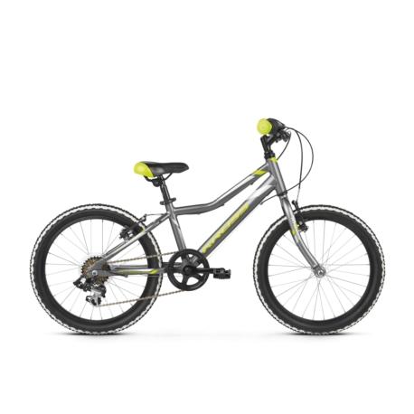 * Rower Kross Hexagon Mini 1.0 2020 grafitowy-limonkowy-srebrny połysk