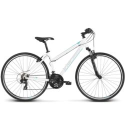 * Rower crossowy Kross EVADO 1.0 Women rozmiar DM 2020 biały-turkusowy połysk
