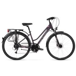 * Rower trekkingowy Kross TRANS 5.0 Woman rozmiar DM fioletowy-srebrny mat