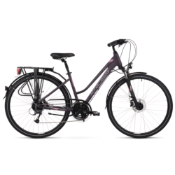 * Rower trekkingowy Kross TRANS 5.0 Woman rozmiar DL fioletowy-srebrny mat