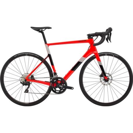 Rower szosowy Cannondale SuperSix Evo Carbon Disc 105 rozmiar 54 cm 2020 czerwony połysk