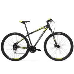 Rower górski MTB 29 Kross Hexagon 5.0 rozmiar S 2020 czarny-grafitowy-limonkowy mat
