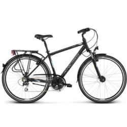 Rower trekkingowy Kross TRANS 3.0 rozmiar L 2020 czarny-stalowy-srebrny mat