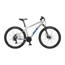 """Rower MTB GT Aggressor 27.5"""" Expert Shimano rozmiar XS 2021 srebrny-niebieski połysk"""