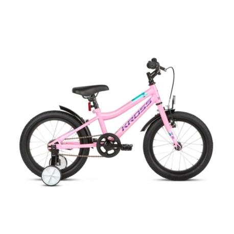 """Rower 16"""" Kross Mini 3.0 2021 różowy-fioletowy-turkusowy połysk"""