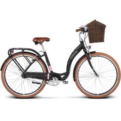 "* Rower miejski Le Grand Lille 6 rozmiar 19"" 2017 czarny mat"