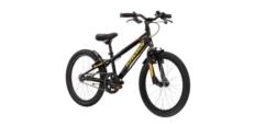 """Rower 20"""" Kross Racer 5.0 2021 czarny-żółty-pomarańczowy połysk"""