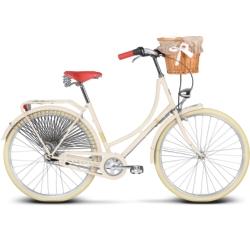 "Rower miejski Le Grand Virginia 4 rozmiar 18"" 2016 kremowy mat"