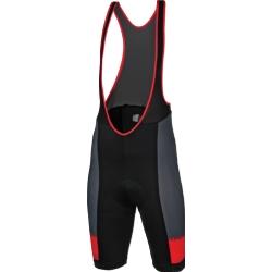 Spodenki z szelkami Kross Depart Bib Shorts rozmiar M czerwone