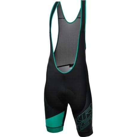 Spodenki z szelkami Kross Rubble Bib Shorts rozmiar L czarno-zielone